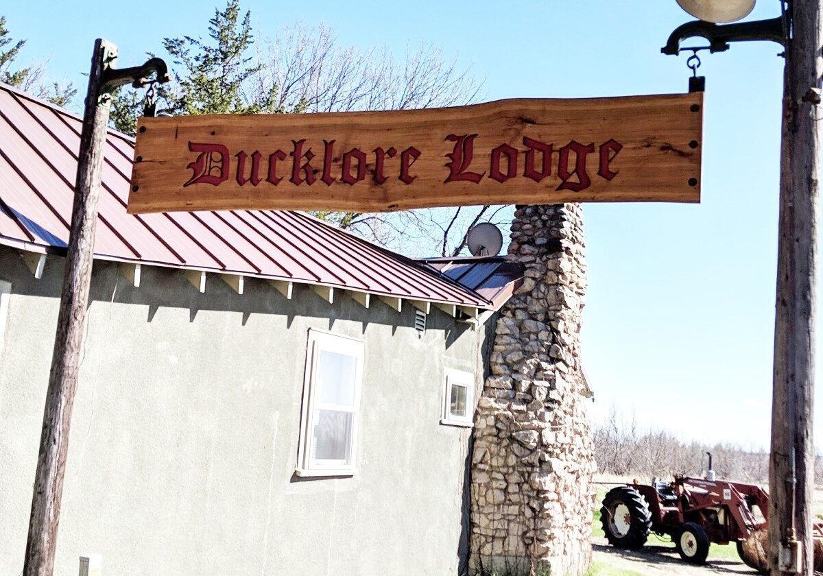 Ducklore Lodge Sign